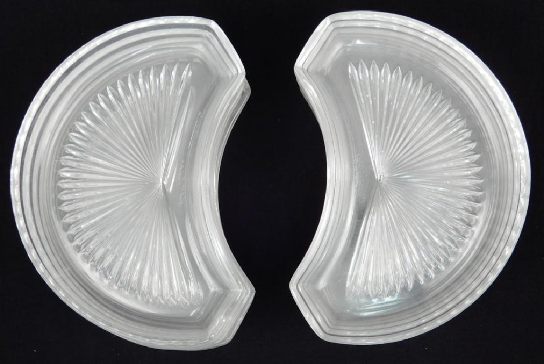 Twelve Val St. Lambert crystal crescent salad plates - 2