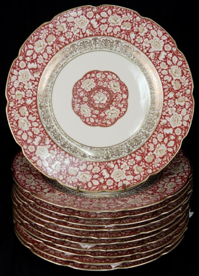 Set of eleven Bavaria Schumann dinner plates