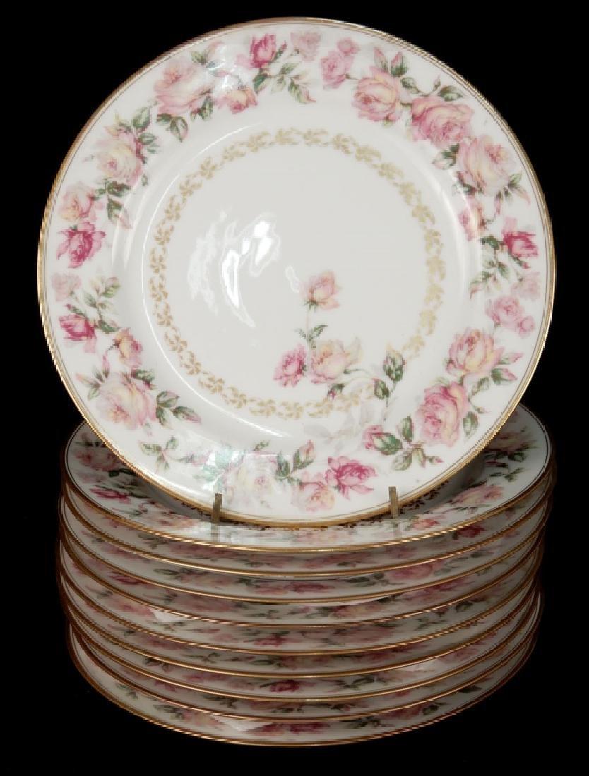 Set of ten Haviland Limoges hand painted plates