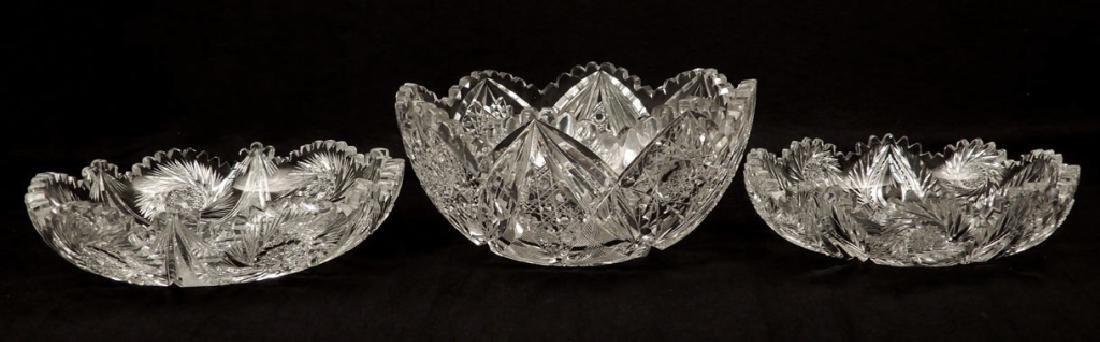 Three American Brilliant cut glass bowls - 2