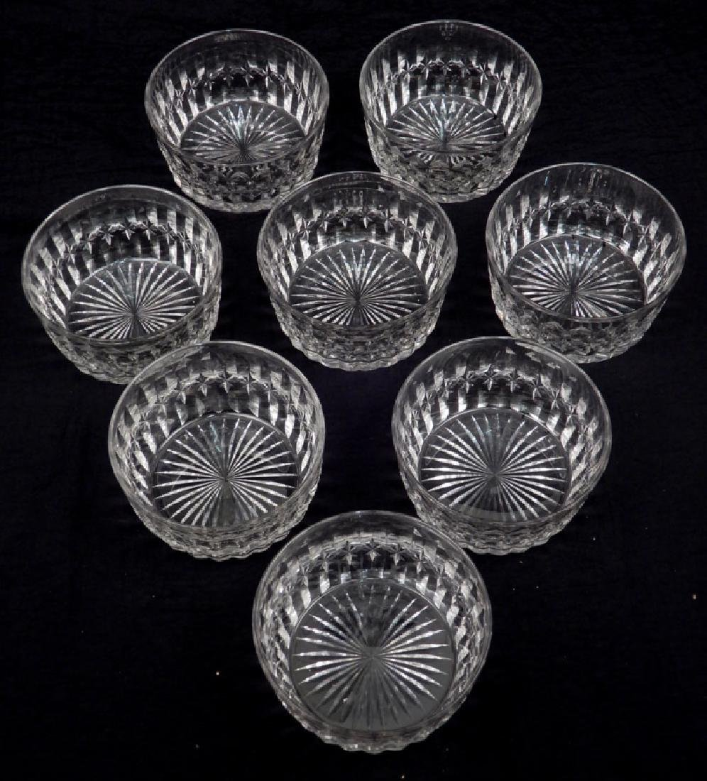 Set of eight Hawkes cut glass finger bowls - 2