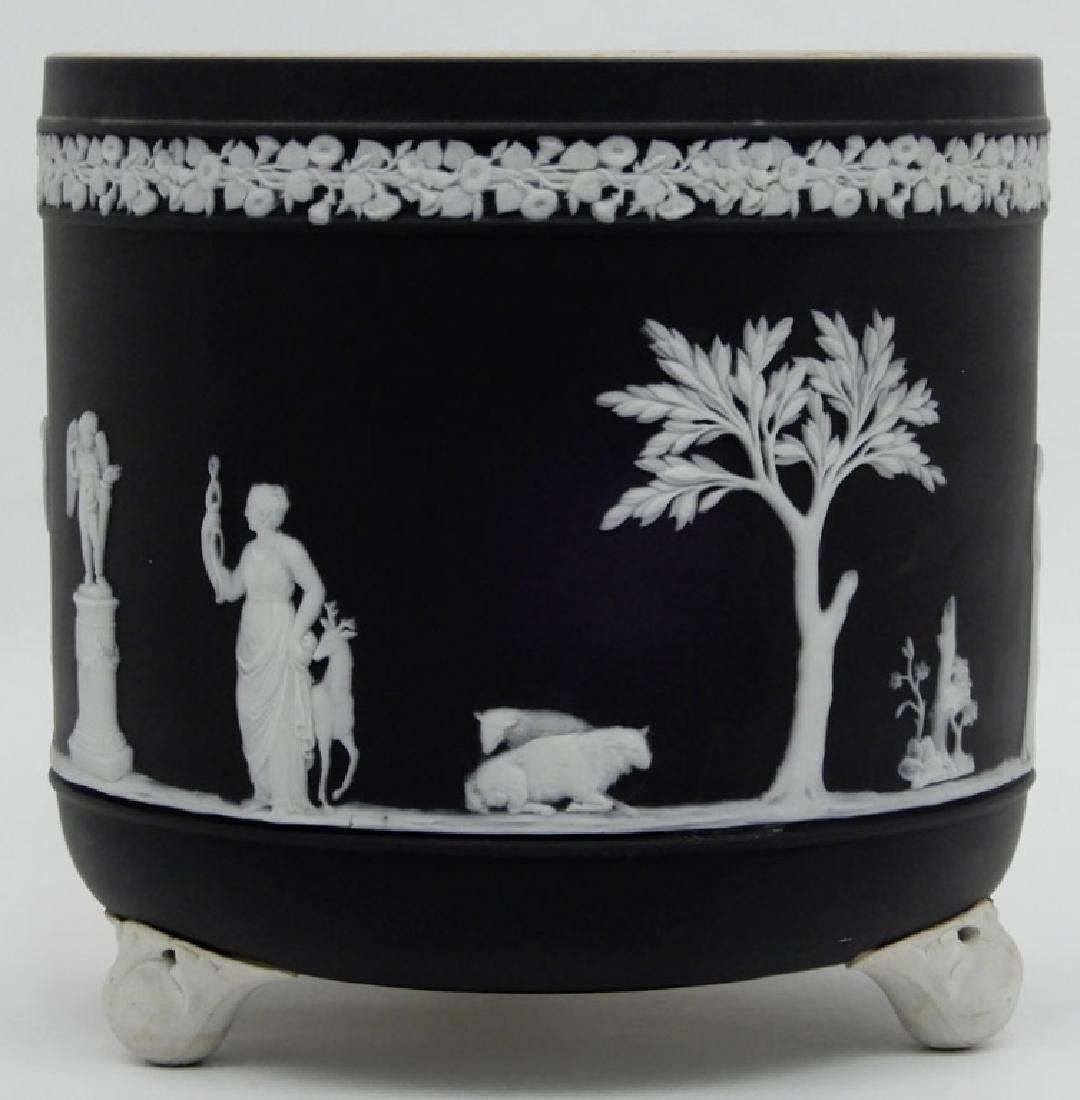 Wedgwood black basalt jasperware cachepot
