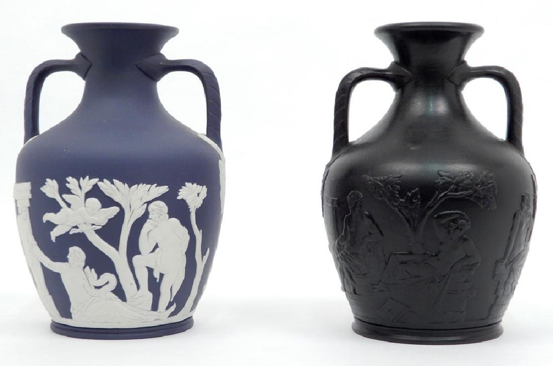 Two Wedgwood Portland vases