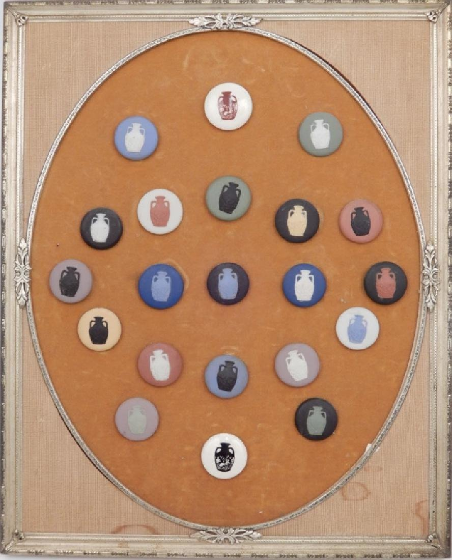 Framed Wedgwood medallion display
