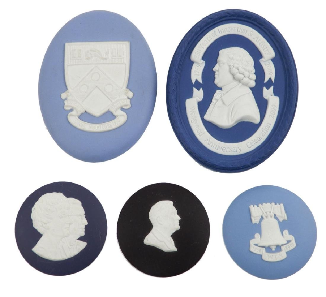 Five Wedgwood medallions
