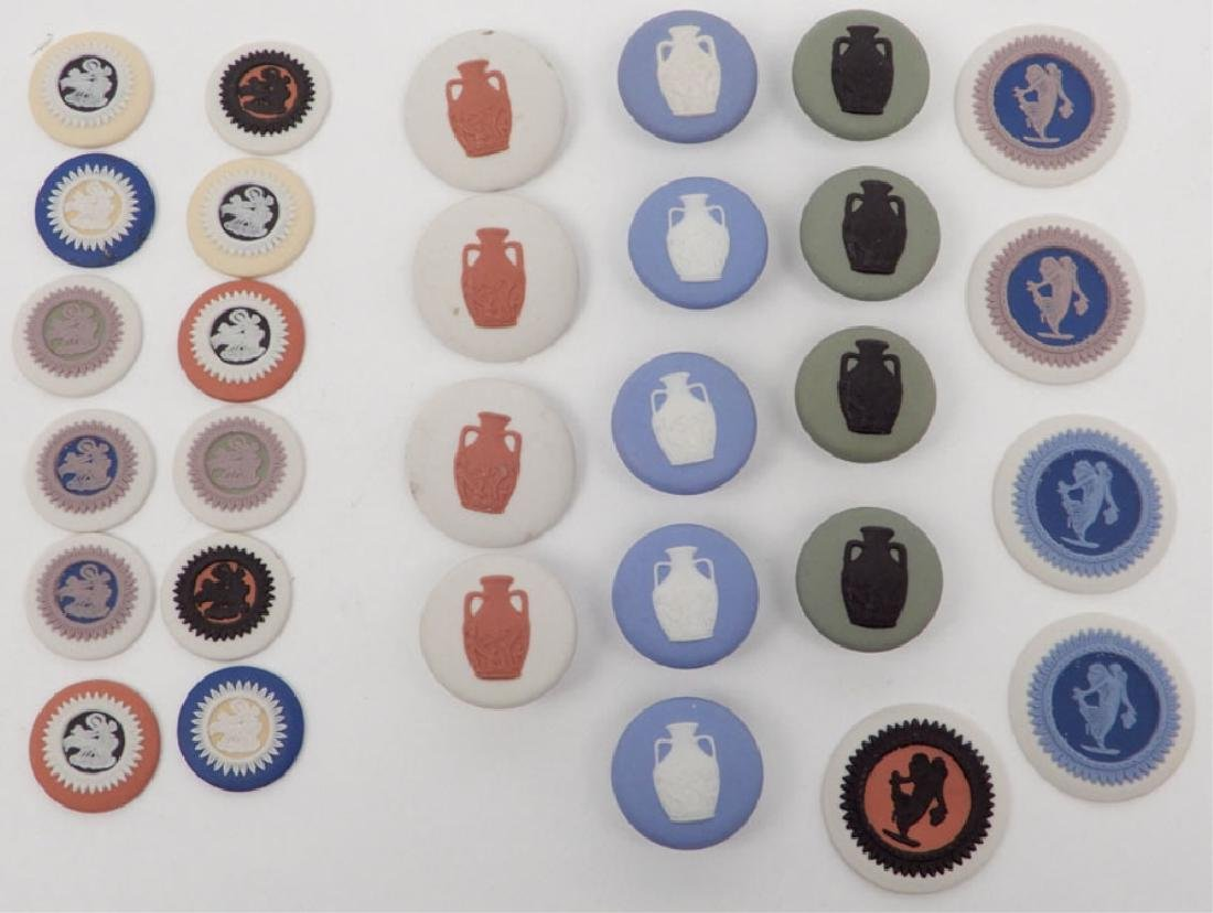 Grouping of Wedgwood jasperware buttons