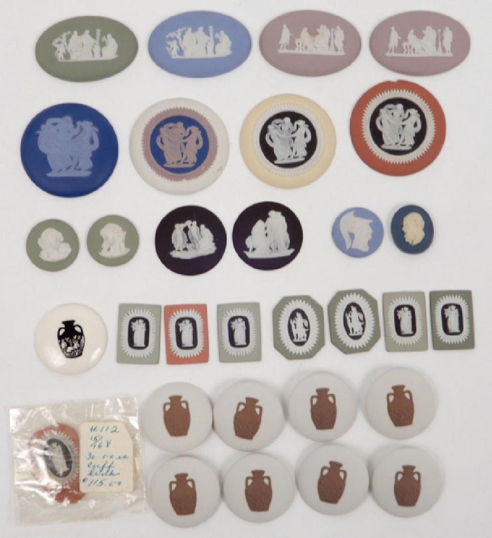 Grouping of Wedgwood jasperware medallions and buttons