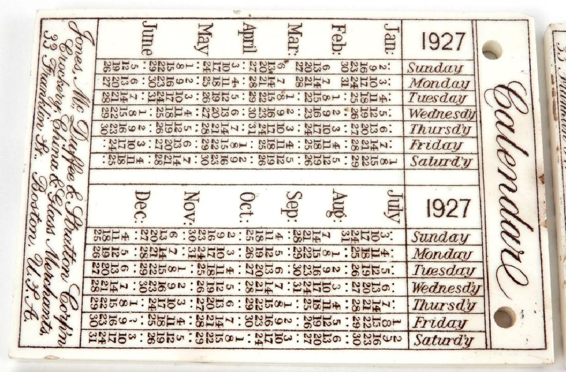 Twenty-five Wedgwood Calendar tiles - 2