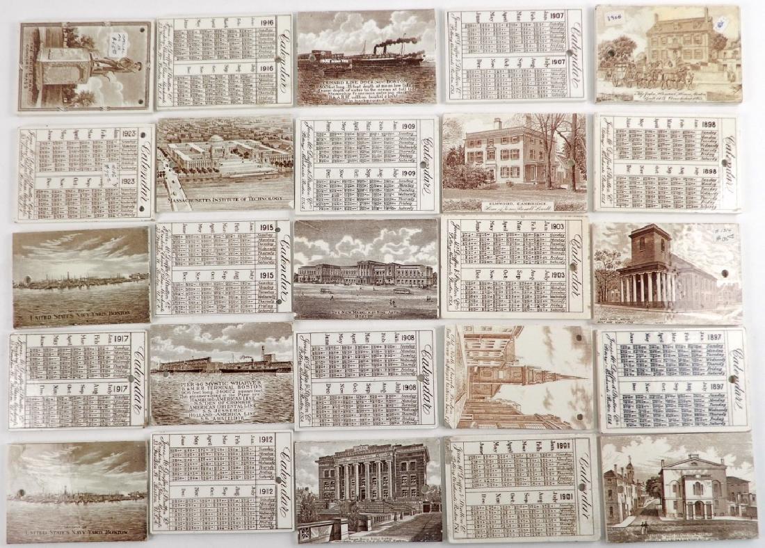 Twenty-five Wedgwood Calendar tiles