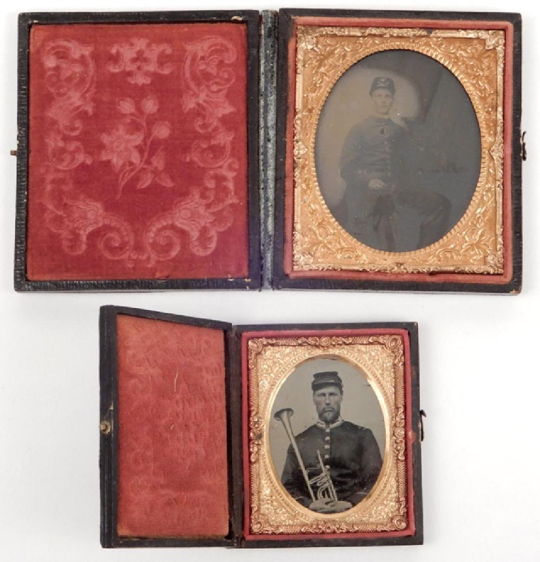 Civil War era daguerreotype and an ambrotype of