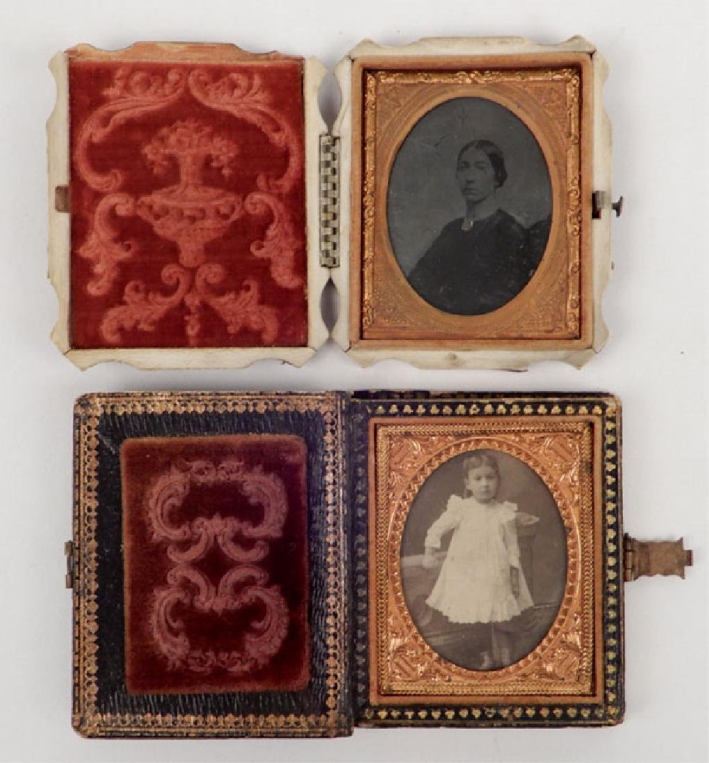 Five Daguerreotypes and ambrotypes in inlaid cases - 2