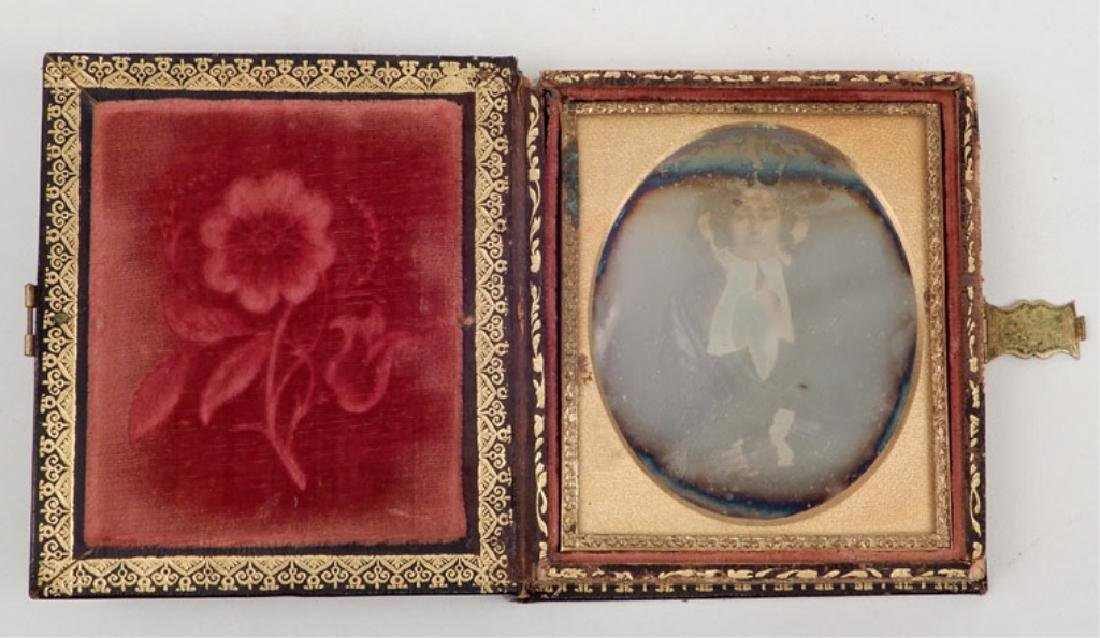 Five Daguerreotypes and ambrotypes in inlaid cases - 6