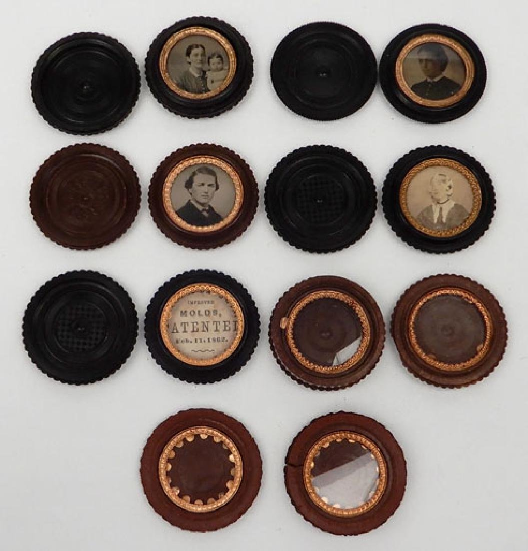 Four tintypes and ambrotype in oreo union cases