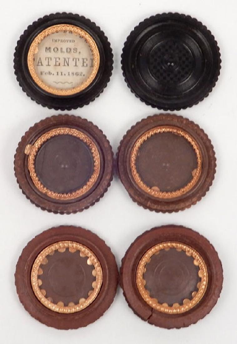 Four tintypes and ambrotype in oreo union cases - 2