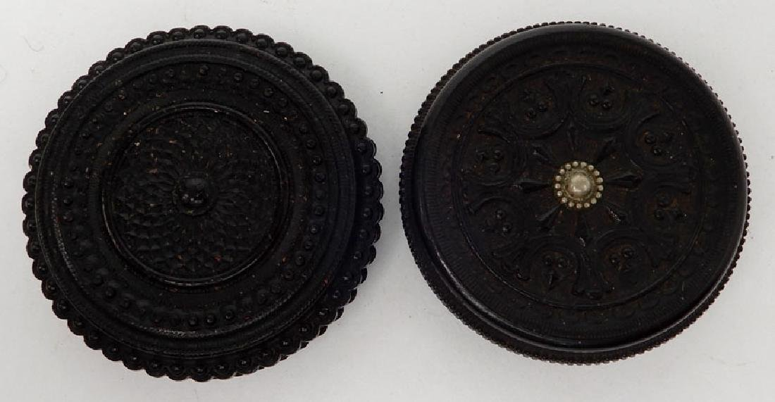 Four tintypes and ambrotype in oreo union cases - 5