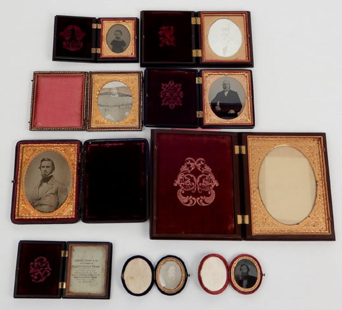 Seven Daguerreotypes and ambrotypes