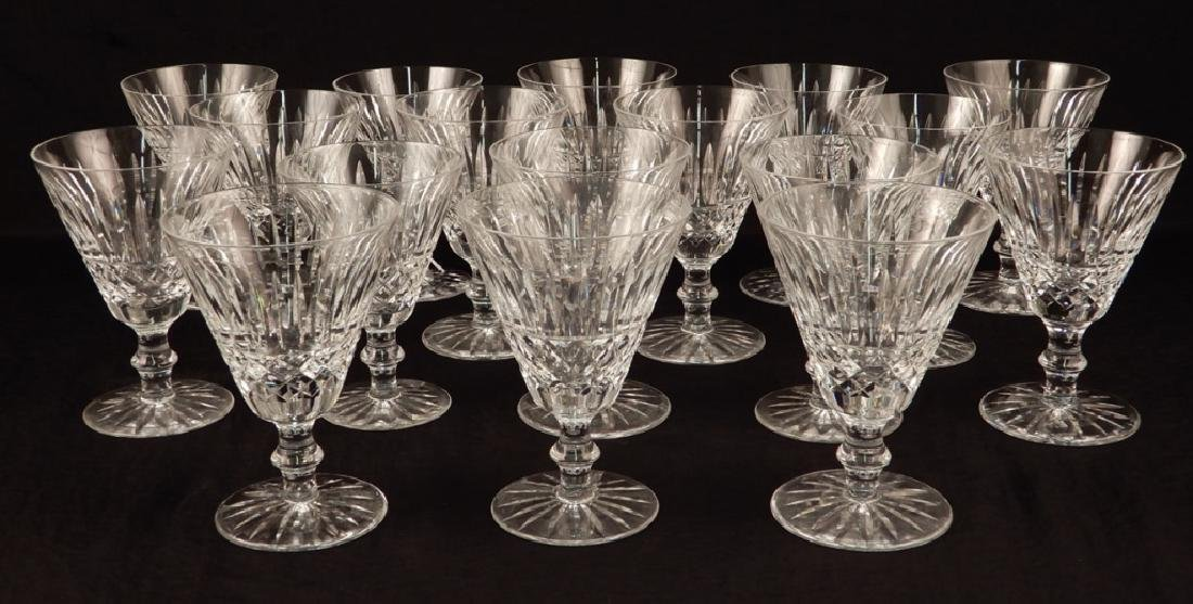 Seventeen Waterford crystal Tramore water goblets