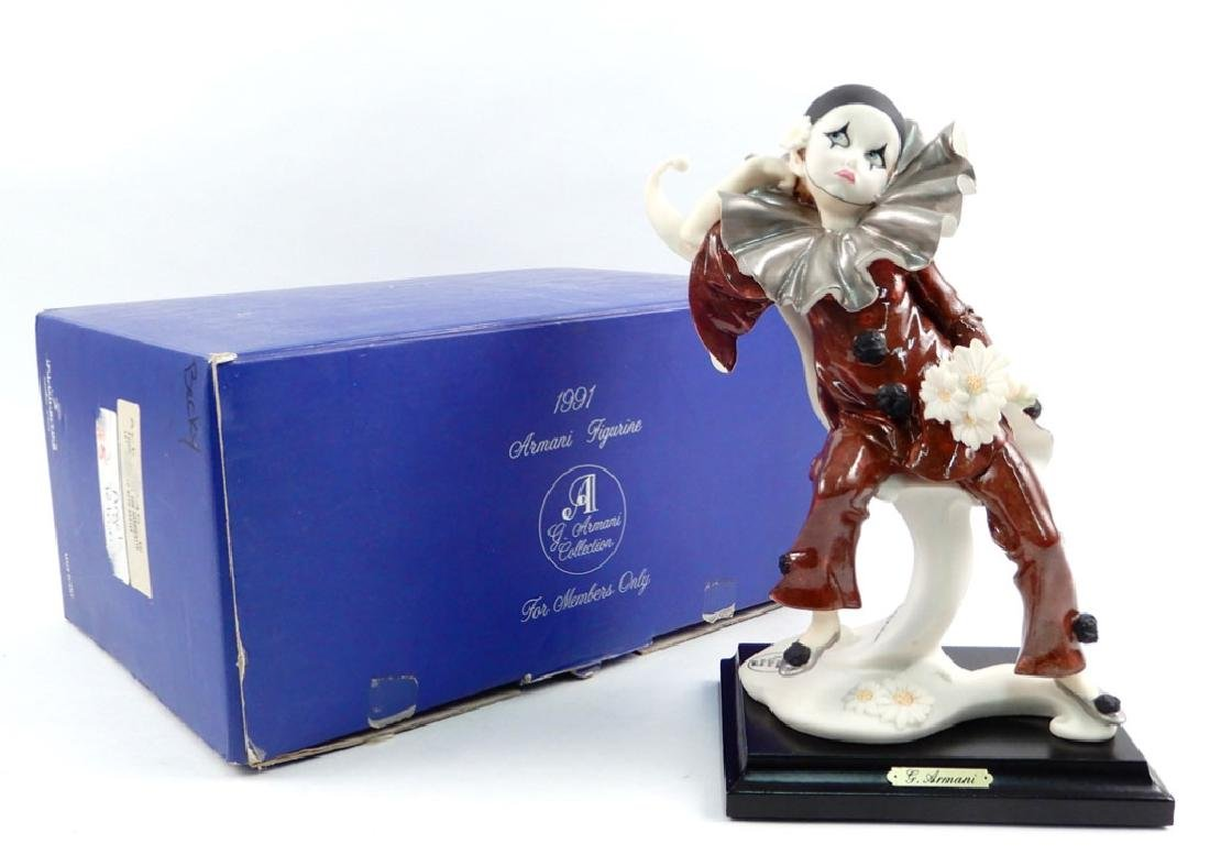 Giuseppe Armani Little Pierrot with Daisies figurine in