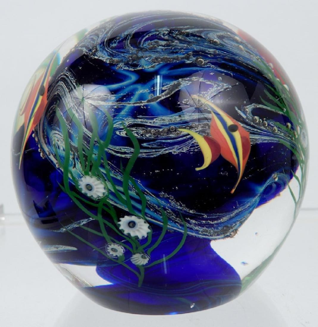 Zellique art glass paperweight