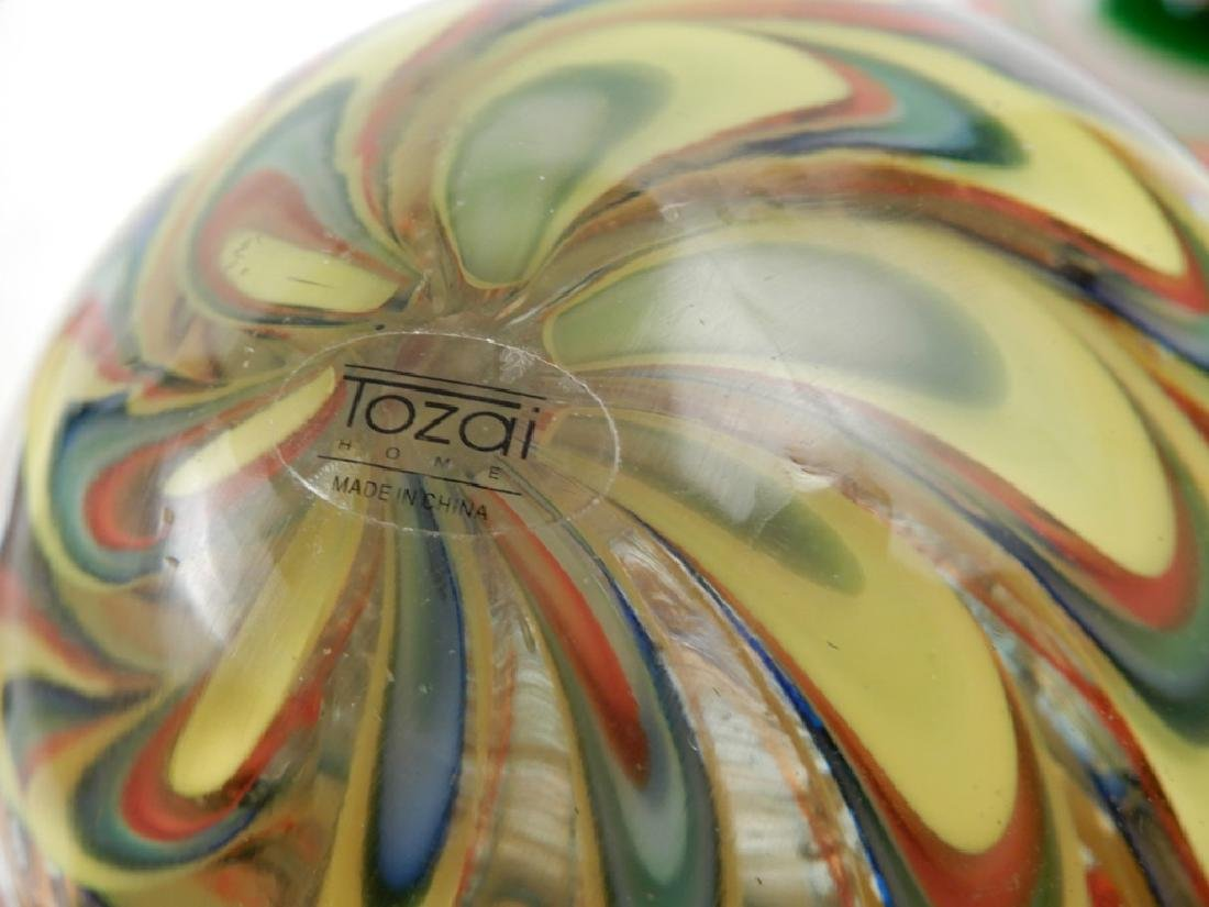Three Tozai art glass paperweights - 2