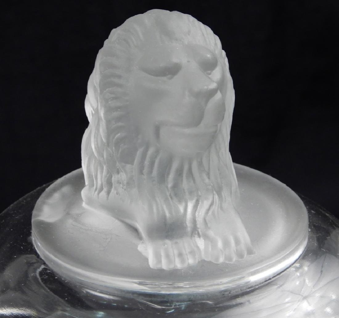 Three early American pattern glass lion compotes - 4