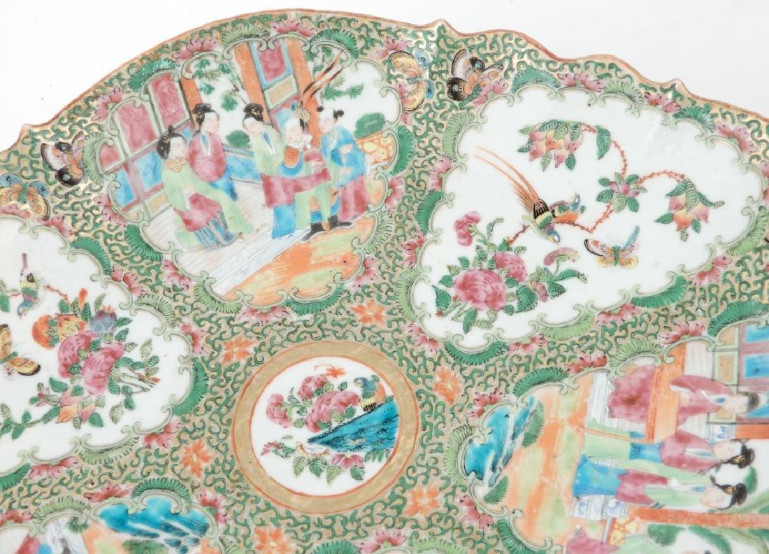 Chinese Rose Medallion porcelain plateau - 2
