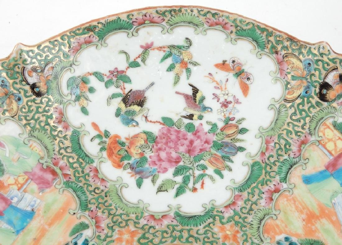 Chinese Rose Medallion porcelain plateau - 4