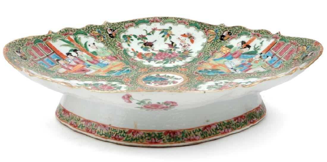 Chinese Rose Medallion porcelain plateau - 5