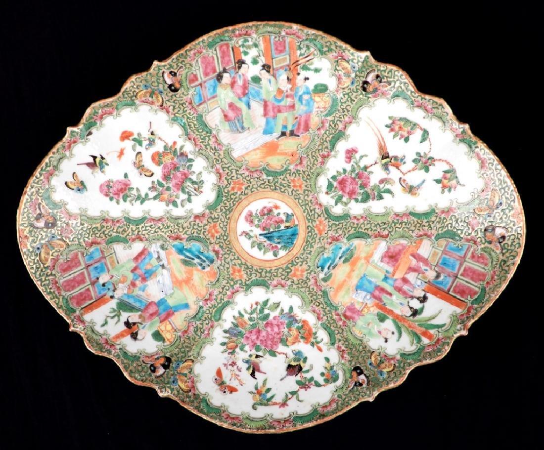 Chinese Rose Medallion porcelain plateau - 6
