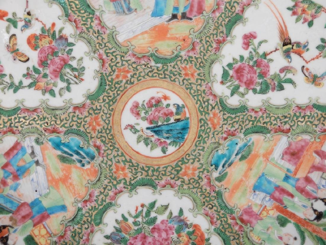 Chinese Rose Medallion porcelain plateau - 7