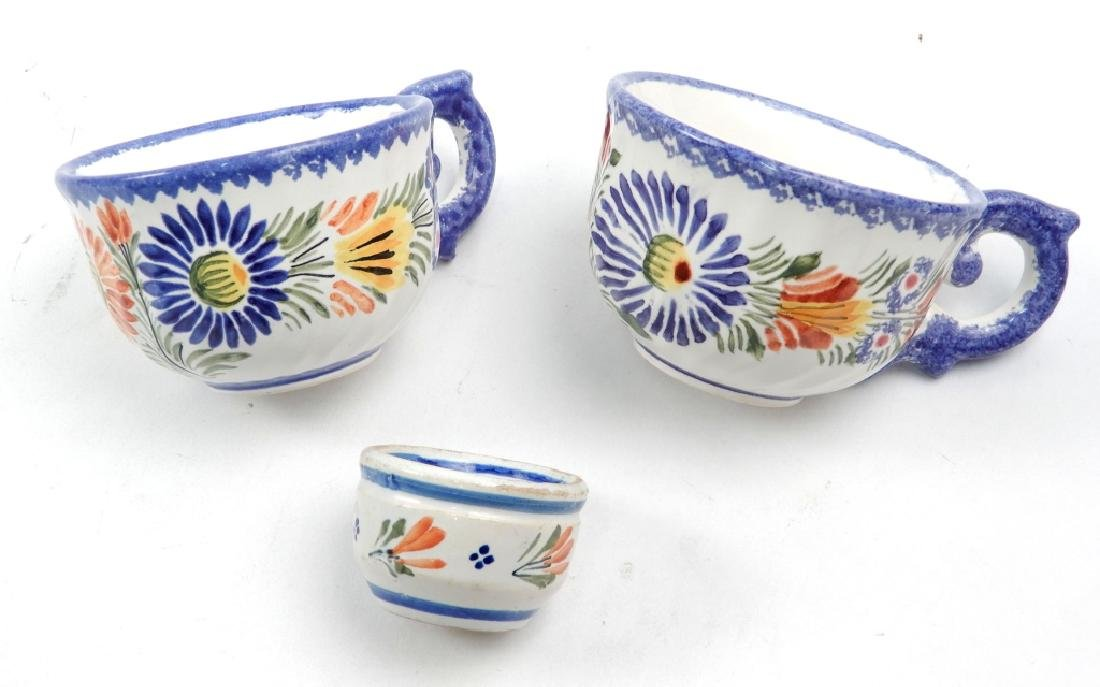 Collection of Quimper France pottery pieces - 10