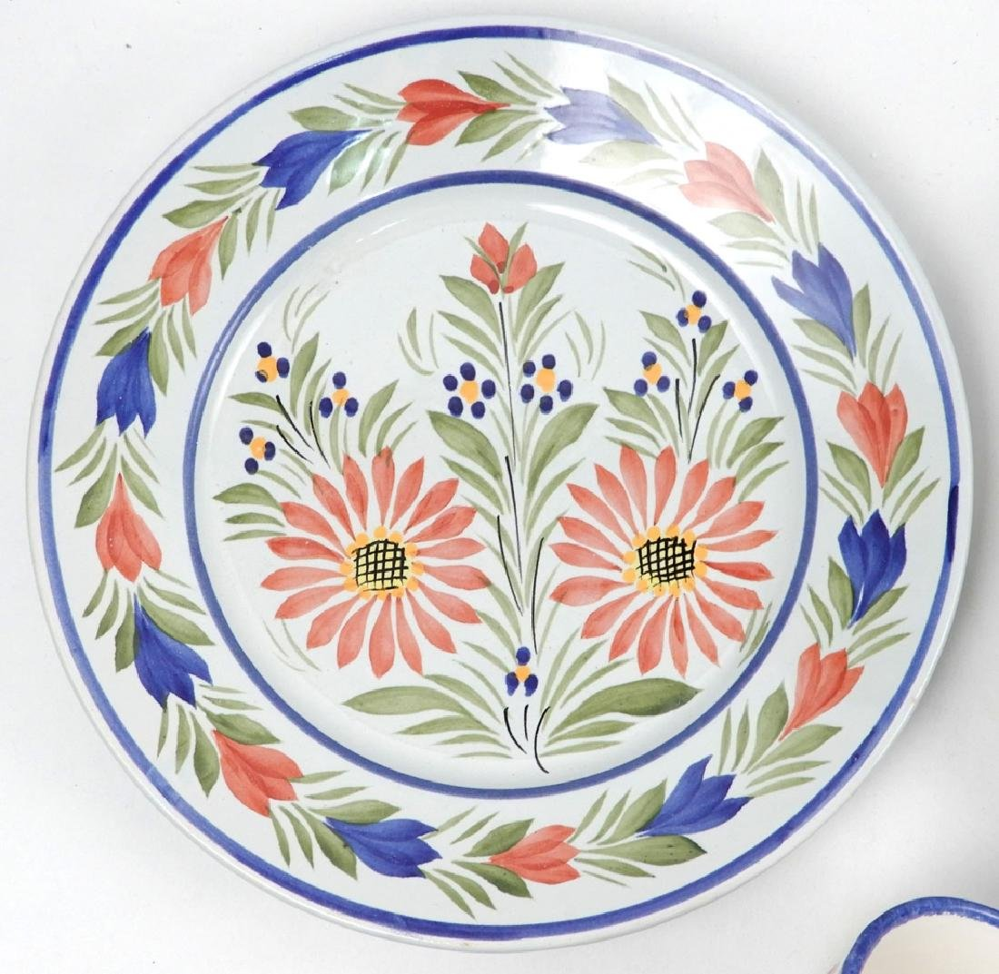 Collection of Quimper France pottery pieces - 4