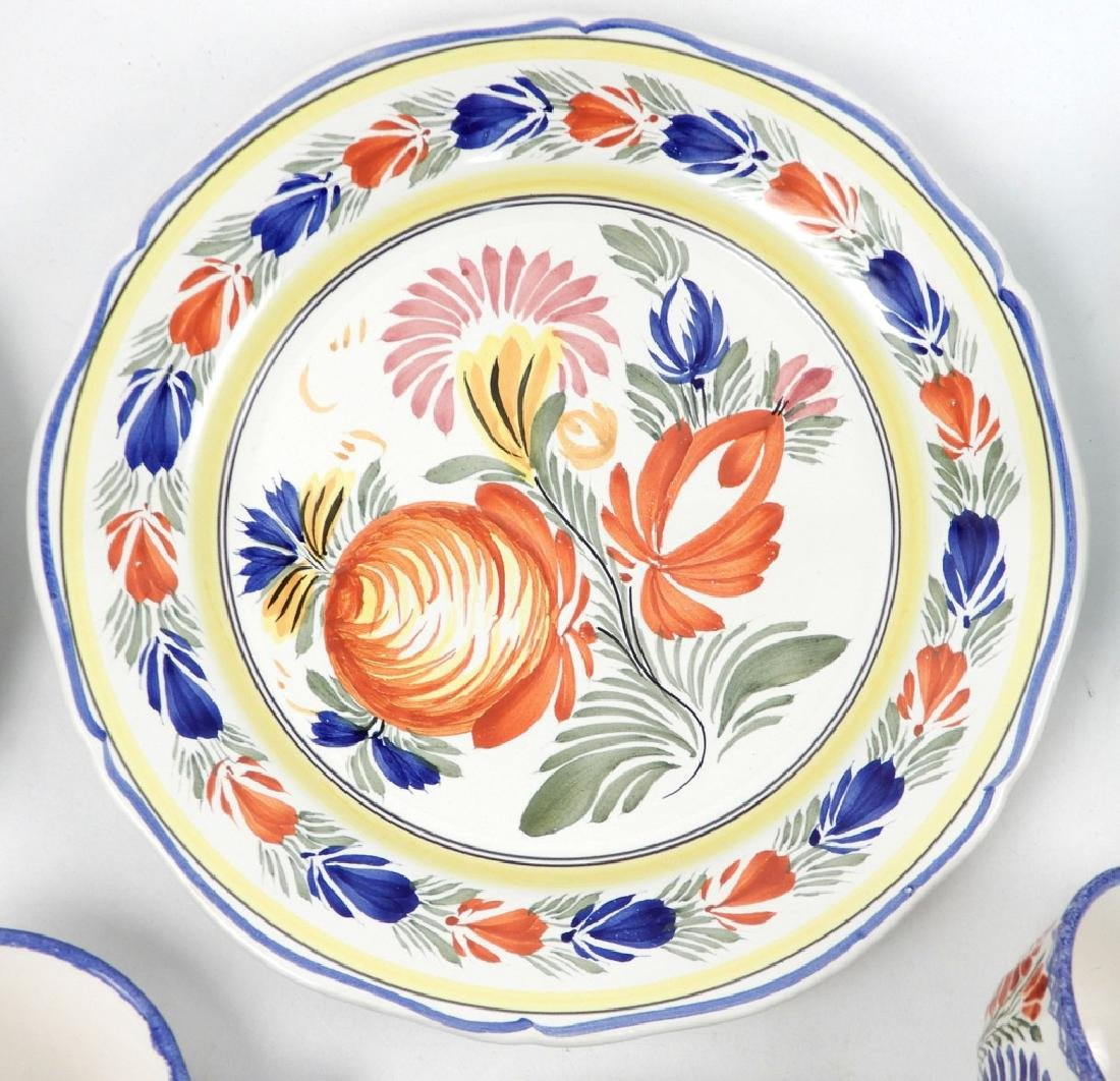 Collection of Quimper France pottery pieces - 5
