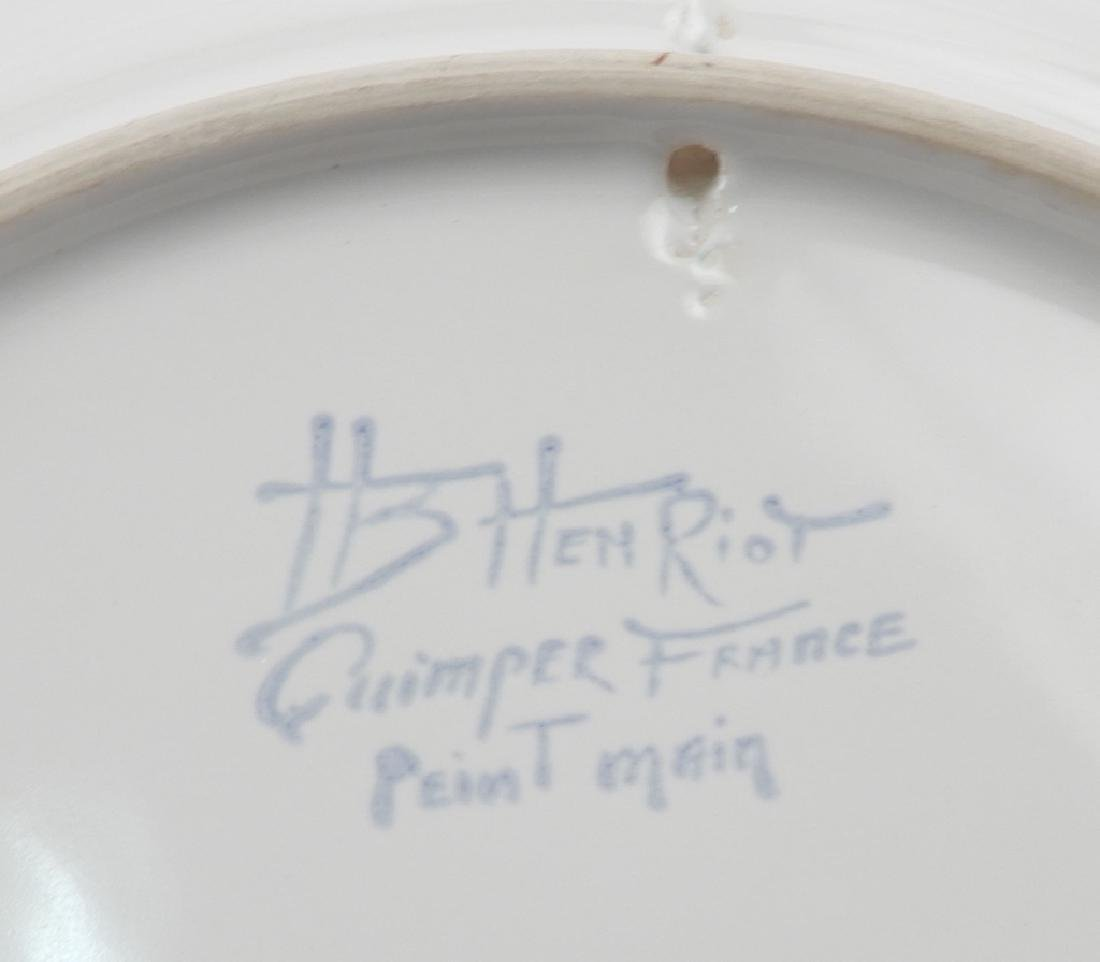 Collection of Quimper France pottery pieces - 8