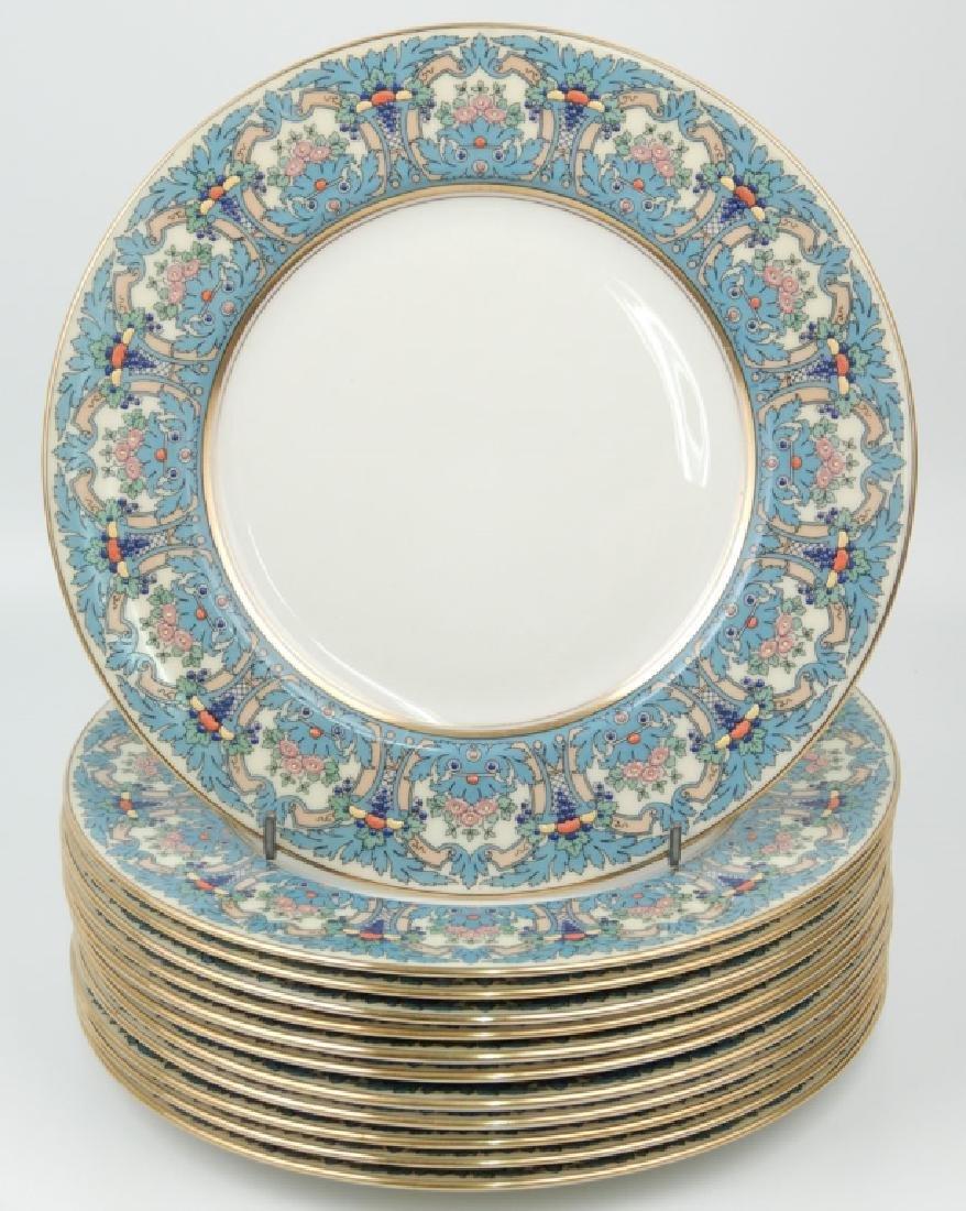 Set of twelve Lenox salad plates