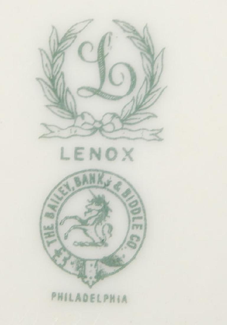 Set of twelve Lenox salad plates - 3