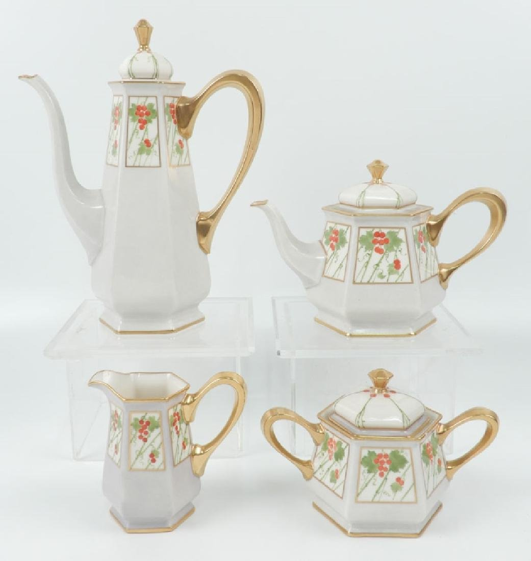 Early 20th C. Lenox hand painted porcelain tea and