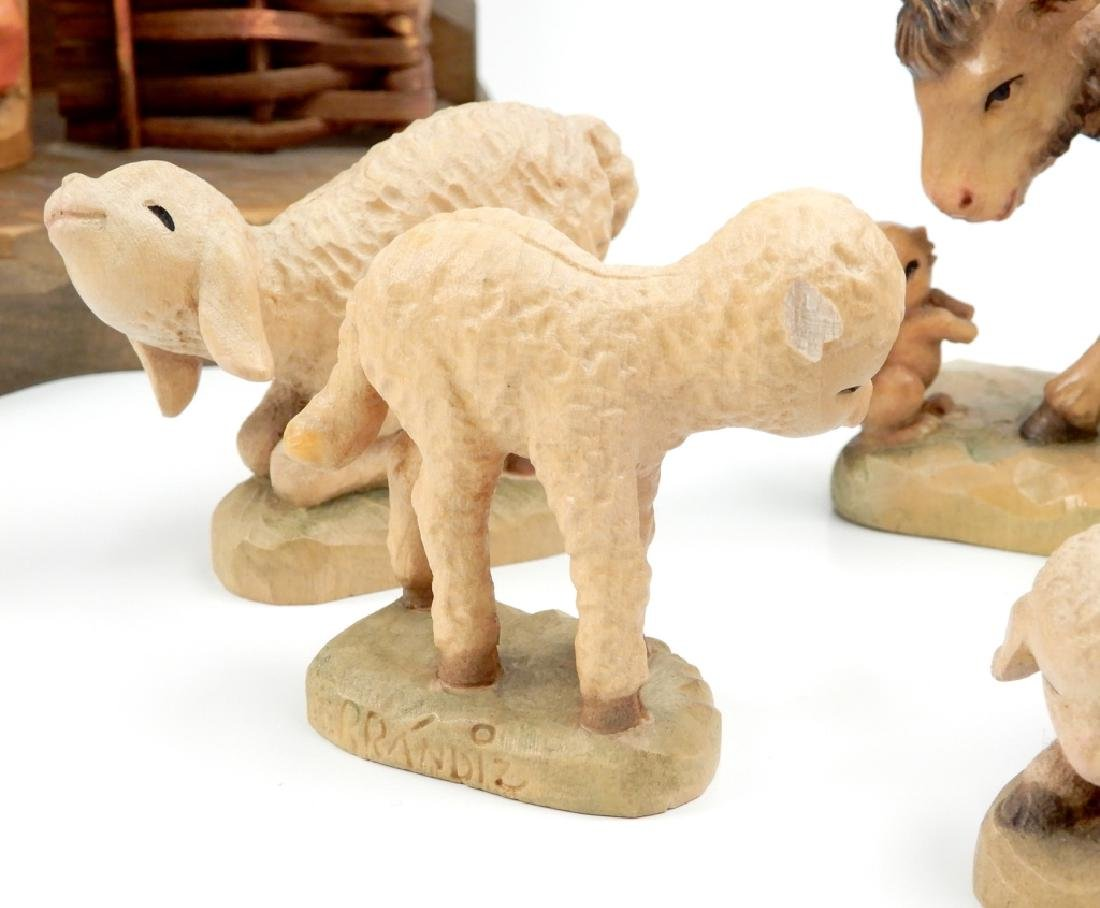 Anri wood carved Nativity Set with Stable - 5