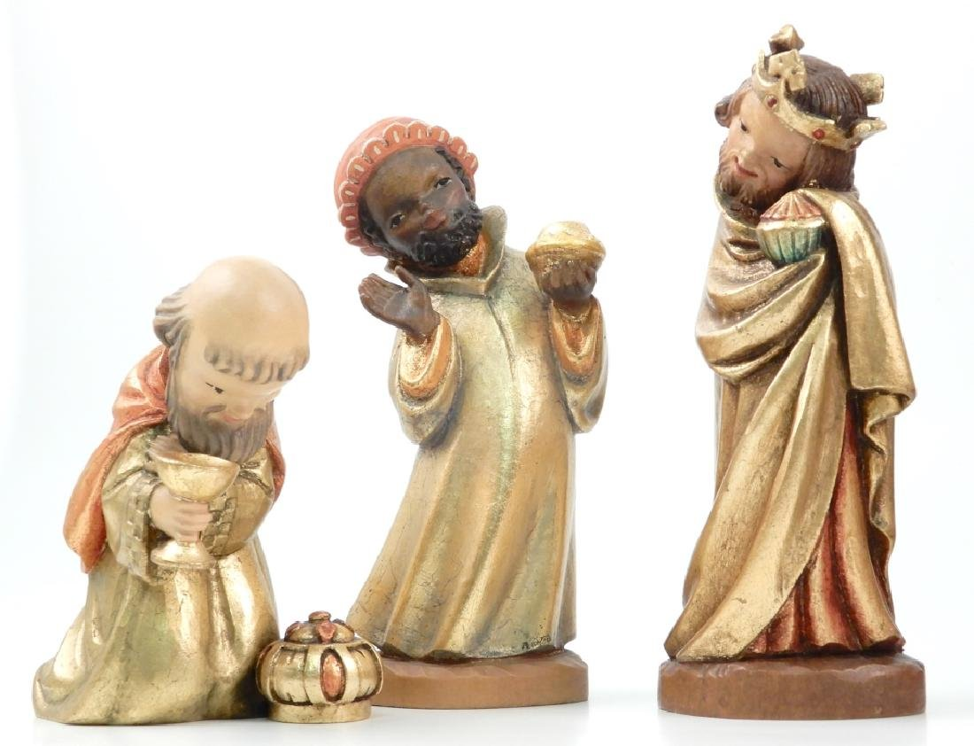 Anri wood carved Nativity Set with Stable - 6