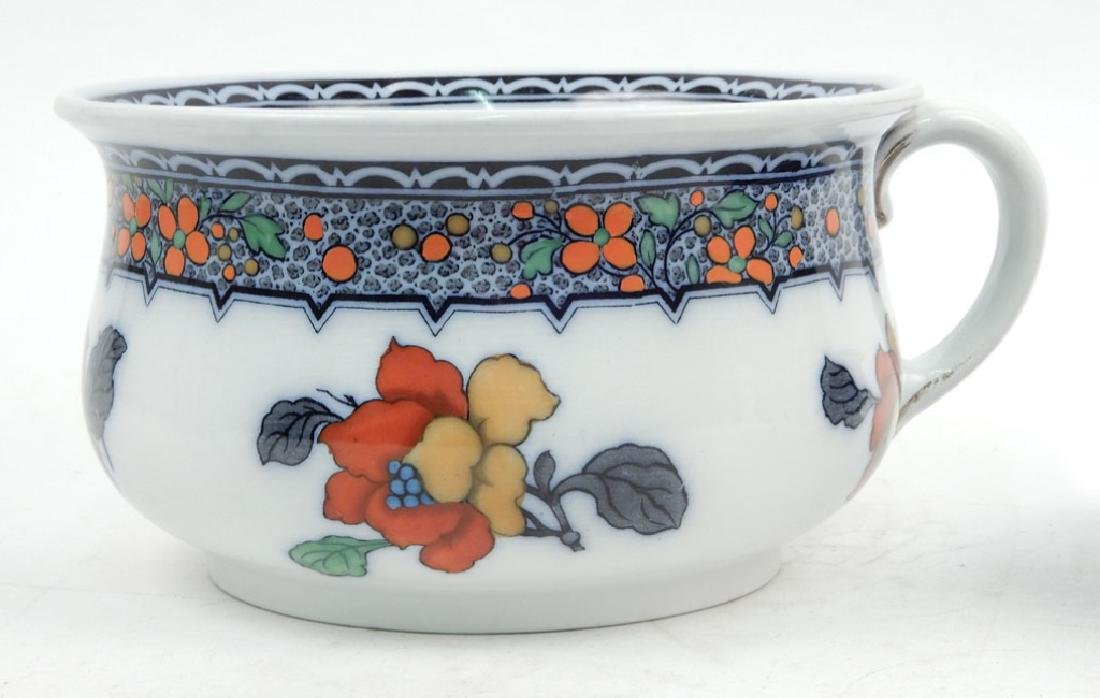 Keeling & Co. chamber pot and Ridgways flow blue - 2