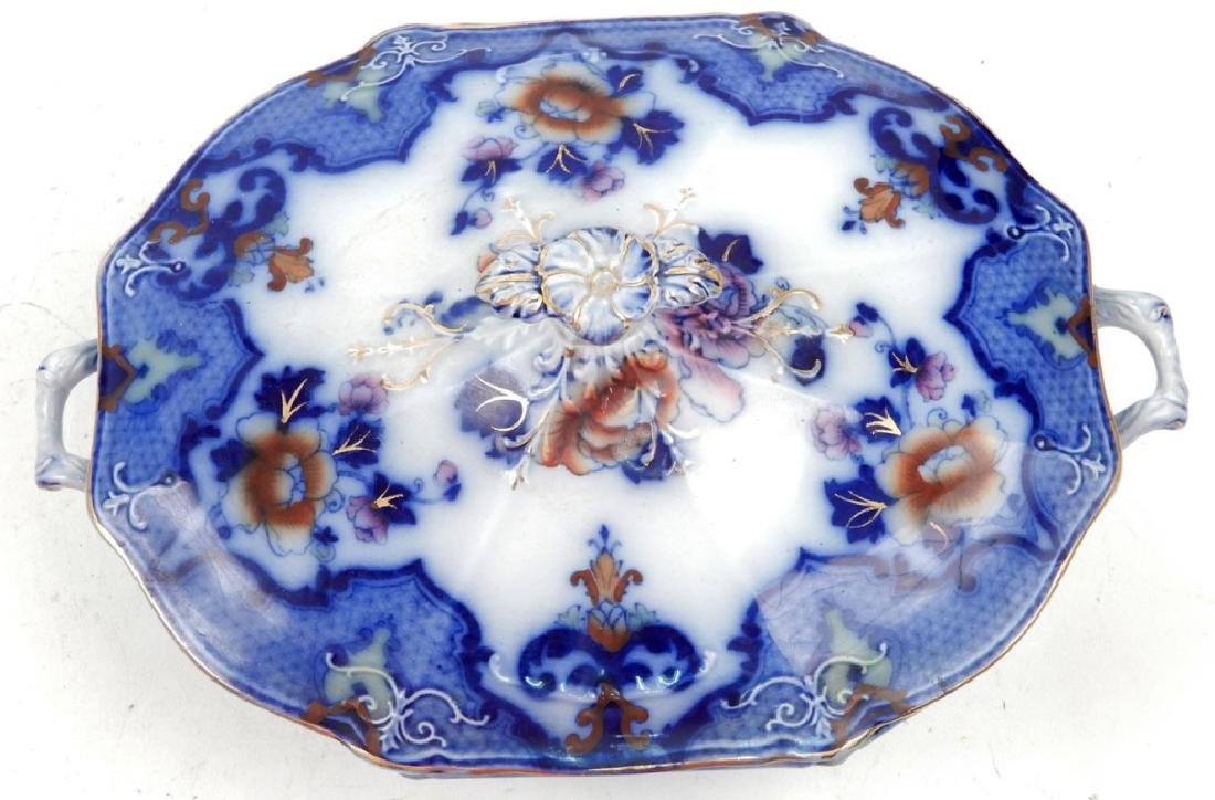 Keeling & Co. chamber pot and Ridgways flow blue - 5