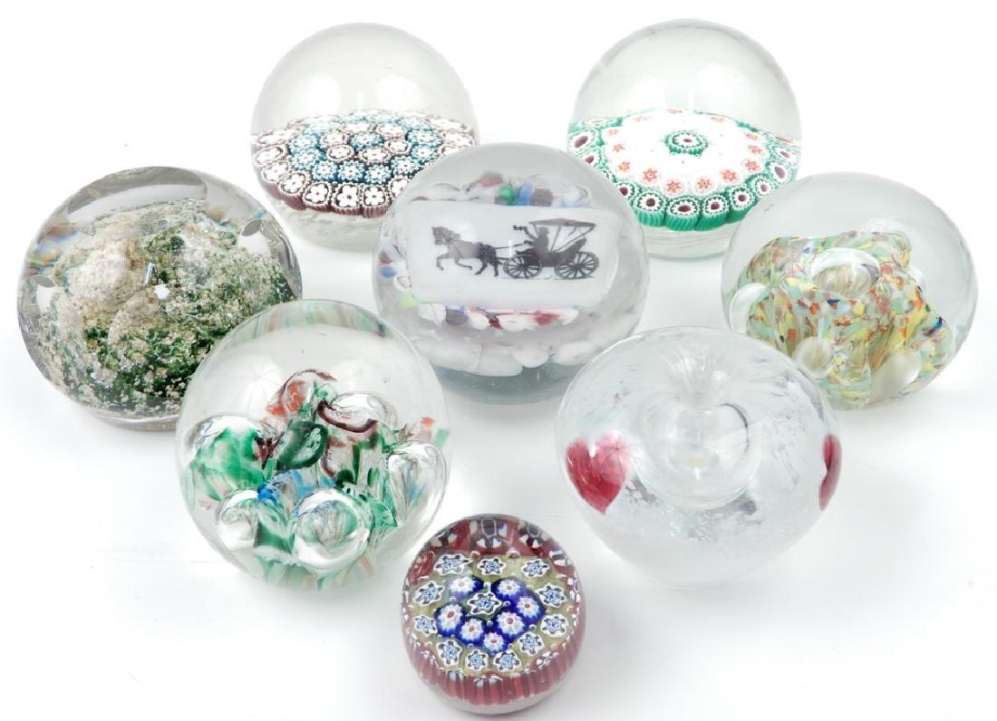 Seven art glass paperweights - 2