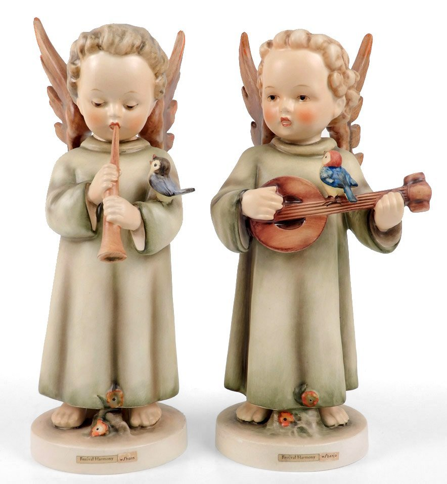 Two Hummel Festival Harmony figurines