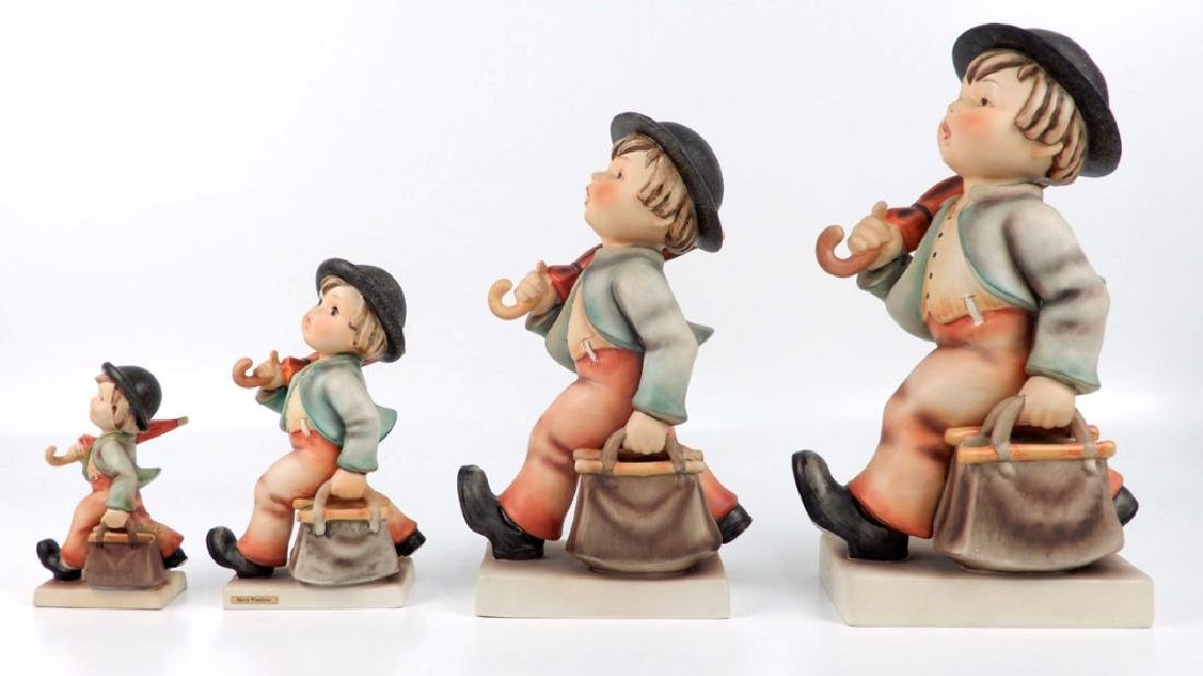 Four Hummel Merry Wanderer figurines