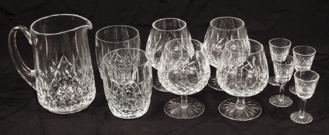 Grouping of Waterford crystal Lismore glasses