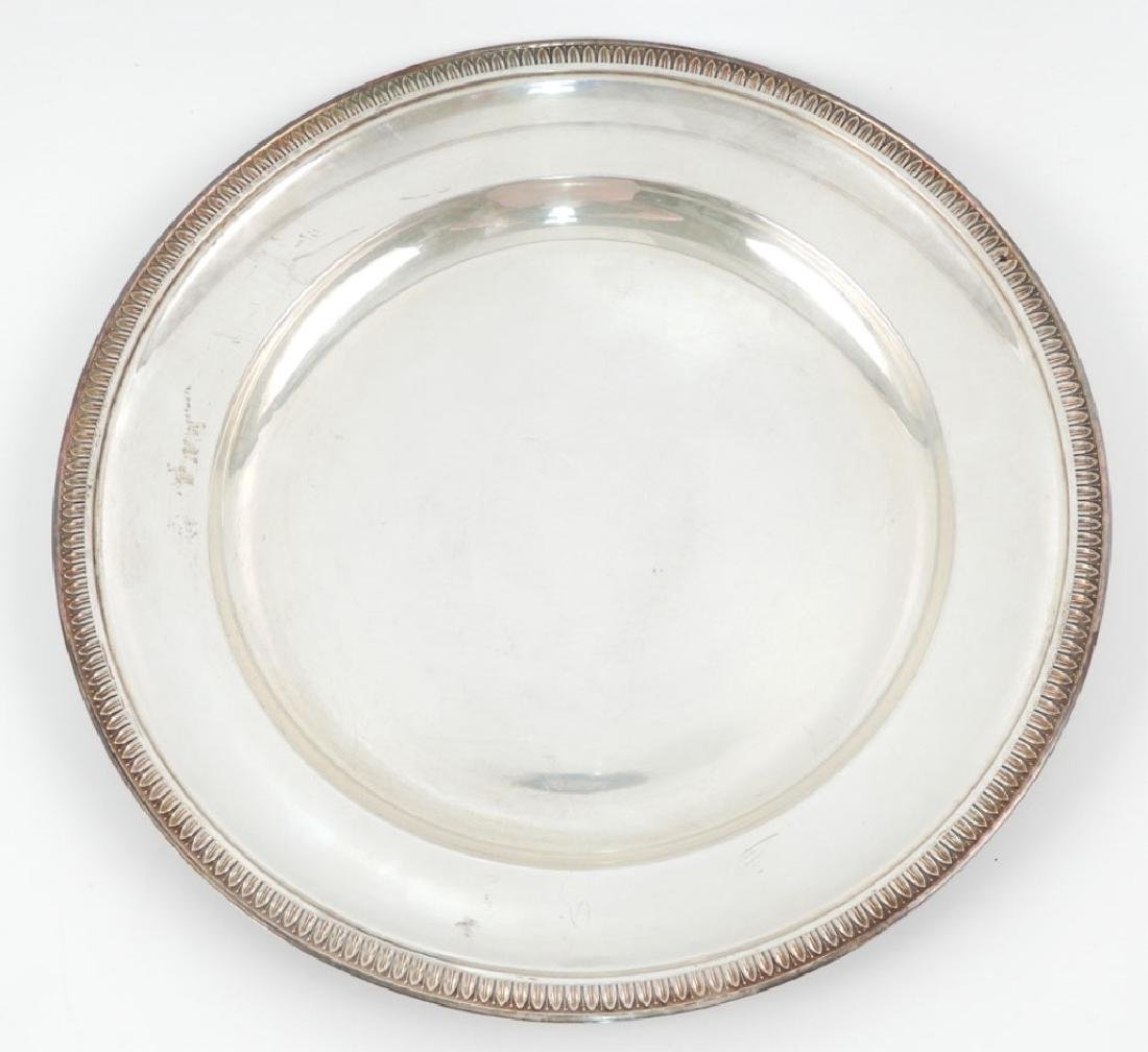 800 silver round plate