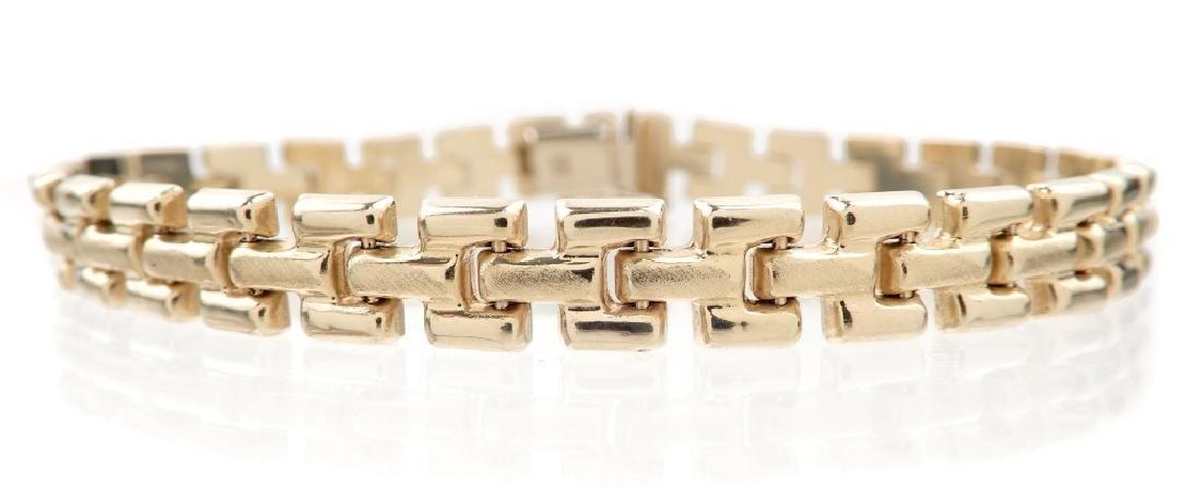 14k gold hinged link bracelet
