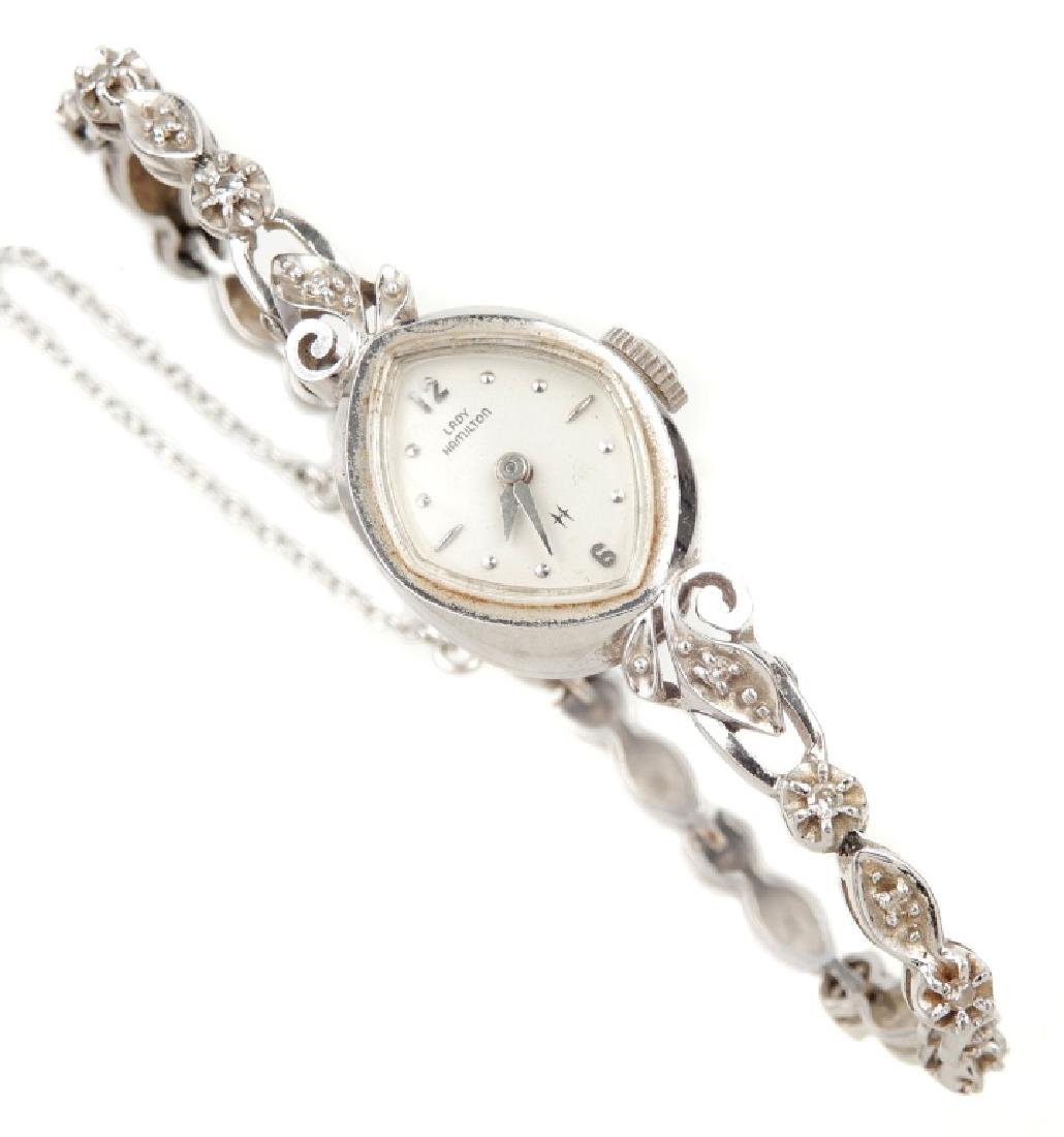 Lady Hamilton 14k white gold wristwatch