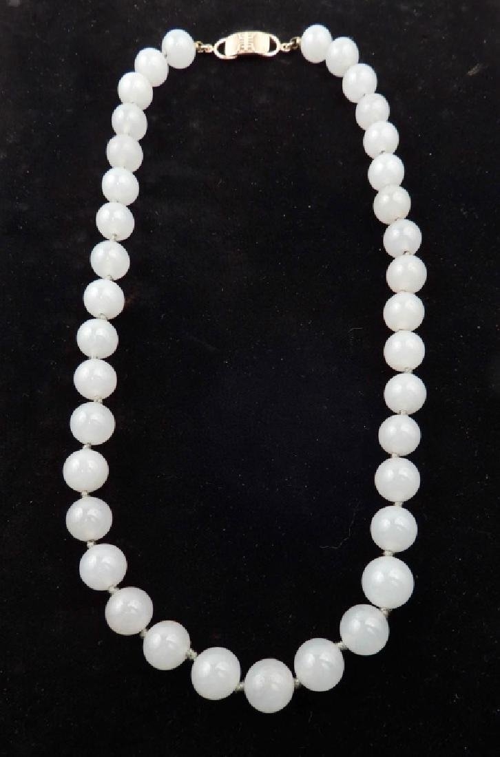 Ming's jade bead necklace
