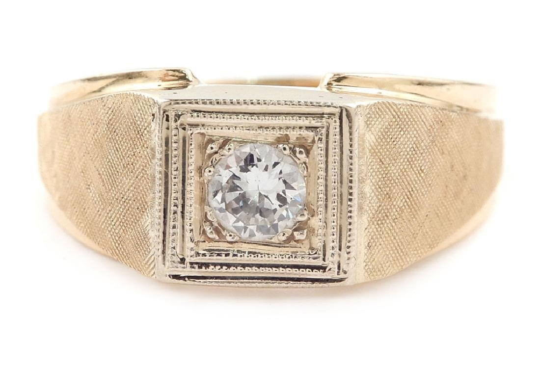 Art Deco 14k gold and diamond ring